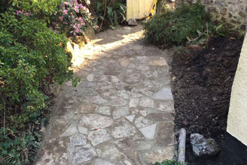 Crazy paving paths and driveways