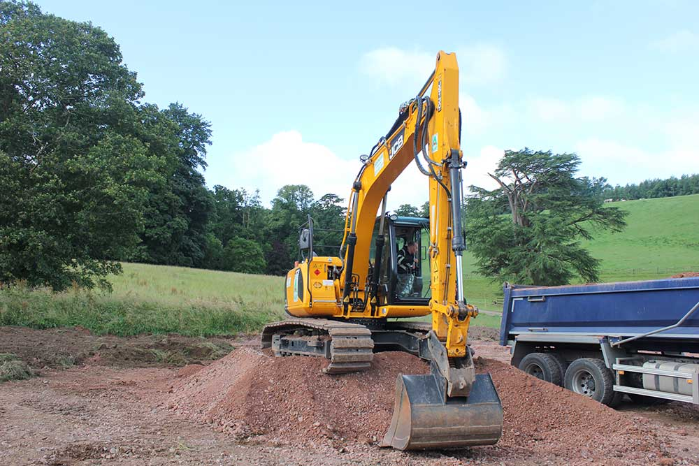 Planning permission groundworks contractor
